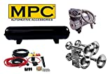 MPC Giant Quad Train Horn Kit for Trucks & Cars. [Complet...