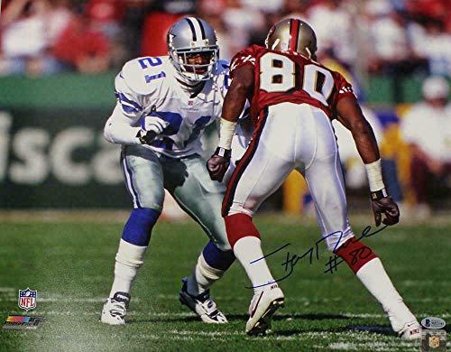 - Autographed Jerry Rice Photograph - 16x20 BAS 22825 - Beckett Authentication - Autographed NFL Photos
