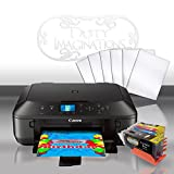 Edible Printer Bundle for Canon - Comes with Edible Ink Cartridges & Frosting Sheets by Tasty Imaginations