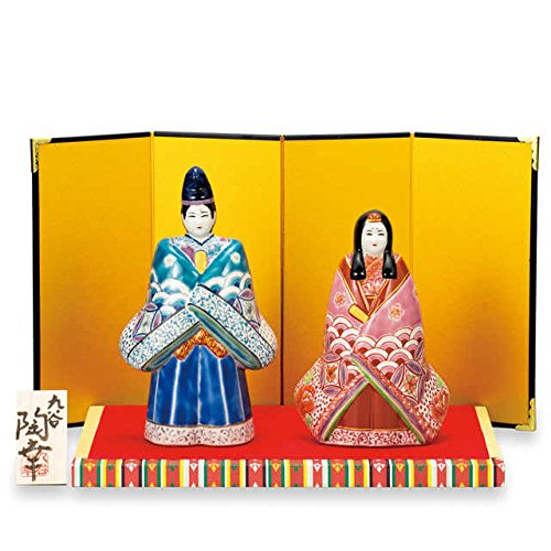 Japanese drawn Ceramic Porcelain kutani ware. Hina ningyo doll displayed during the Girls' Festival '' Japanese ceramic Hagiyakiya 1446