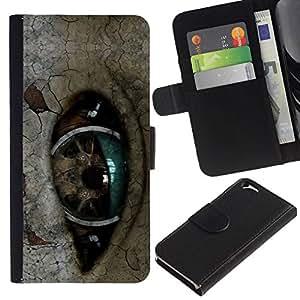 All Phone Most Case / Oferta Especial Cáscara Funda de cuero Monedero Cubierta de proteccion Caso / Wallet Case for Apple Iphone 6 // Robot Eye