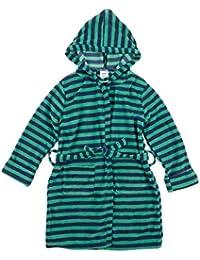 Leveret Kids Fleece Sleep Robe Blue & Green Size 6 Years