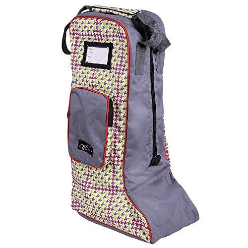 in für Houndstooth modernen Reitstiefel Designs Lederstiefel Stiefeltasche Tasche netproshop axwq18XW