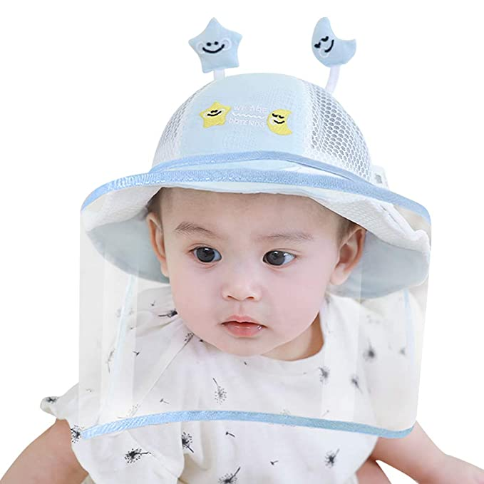 Happy Cherry Kids Sun Protection Bucket hat Wide Brim Summer Cap