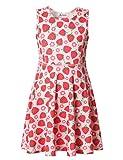 Jxstar Girls Dress 4t Girls Dress 5t Girls Dress 4-6x Little Girls Dress Strawberry 120
