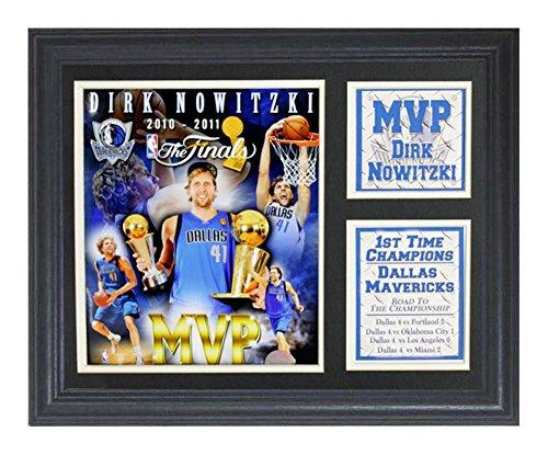 Encore Select 142-09 NBA Dallas Mavericks Deluxe Frame 2011 Finals MVP Dirk Nowitzki Print, 11-Inch 14-Inch - Black Dallas Mavericks Frame