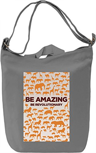 Be rovulutionary Borsa Giornaliera Canvas Canvas Day Bag  100% Premium Cotton Canvas  DTG Printing 
