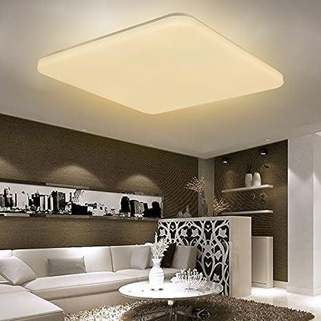 SAILUN® 36W LED Blanco Cálido Moderno Ultradelgado Luz de Techo ...
