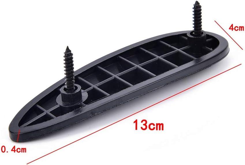 1 Ajuste Durable de pl/ástico Antideslizante Slip Acanalado Retroceso del coj/ín con Culata Tornillo Arma Stock Suave del Amortiguador de Empuje Accesorios de Caza coj/ín Color : Negro SHIYM-Pads