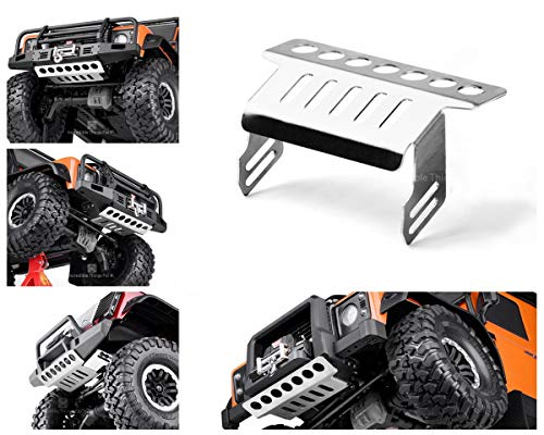 Raidenracing Stainless Steel Front Bumper Lower Chassis Protect for Traxxas 1/10 TRX-4 Trail Crawler Defender Bronco