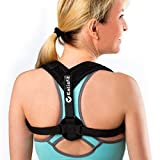 PREMIUM Back Posture Corrector for Women and Men, with Improved Material for Comfort and Durability. Longer Straps to Easily Clasp Brace By Yourself. Includes Carry Bag