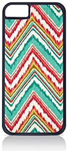 Colorful Ikat Chevron Pattern- Case for the Apple iphone 6 4.7 Only-Hard Black Plastic Outer Shell