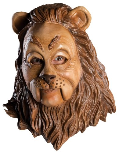 Lion From The Wizard Of Oz Costumes (Wizard Of Oz Deluxe Latex Mask, Cowardly Lion, Brown, One Size)