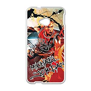 Happy Michael Jordan ahionable And Popular Back Case Cover For HTC One M7