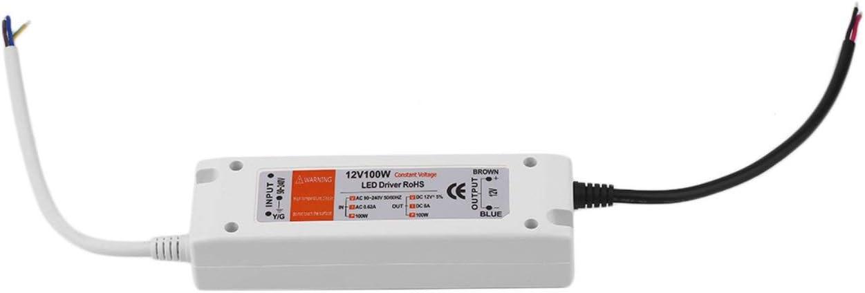 Fuente de alimentación 18W / 28W / 48W / 72W / 100W DC 12v Adaptador de controlador LED Salida del interruptor del transformador 100V-240V Para tira de LED (blanco)(JIO-S)