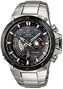 Casio EQW-A1000DB-1AER - Reloj analógico de caballero de cuarzo con correa de acero inoxidable plateada