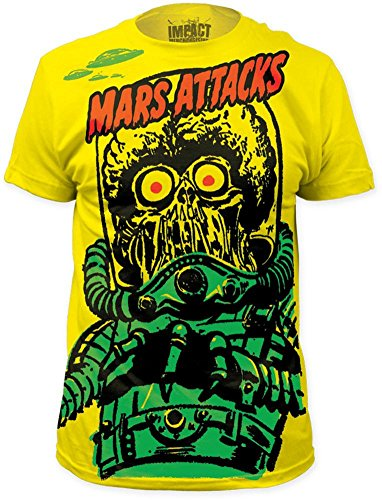 Mars Attacks - Big Yellow Martian (Slim Fit) T-Shirt Size M