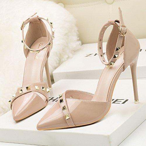e per aiutare femminili tacco Stati scarpe con alto sexy Nude Belle per appuntita a club l gli style tacchi color night Europa basso alti Asakuchi Uniti qfwxR0R