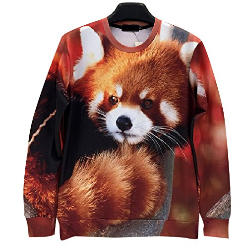 Unisex Sweater red panda kigurumi Bear Costume Sweatshirt T Shirt (XL) ()