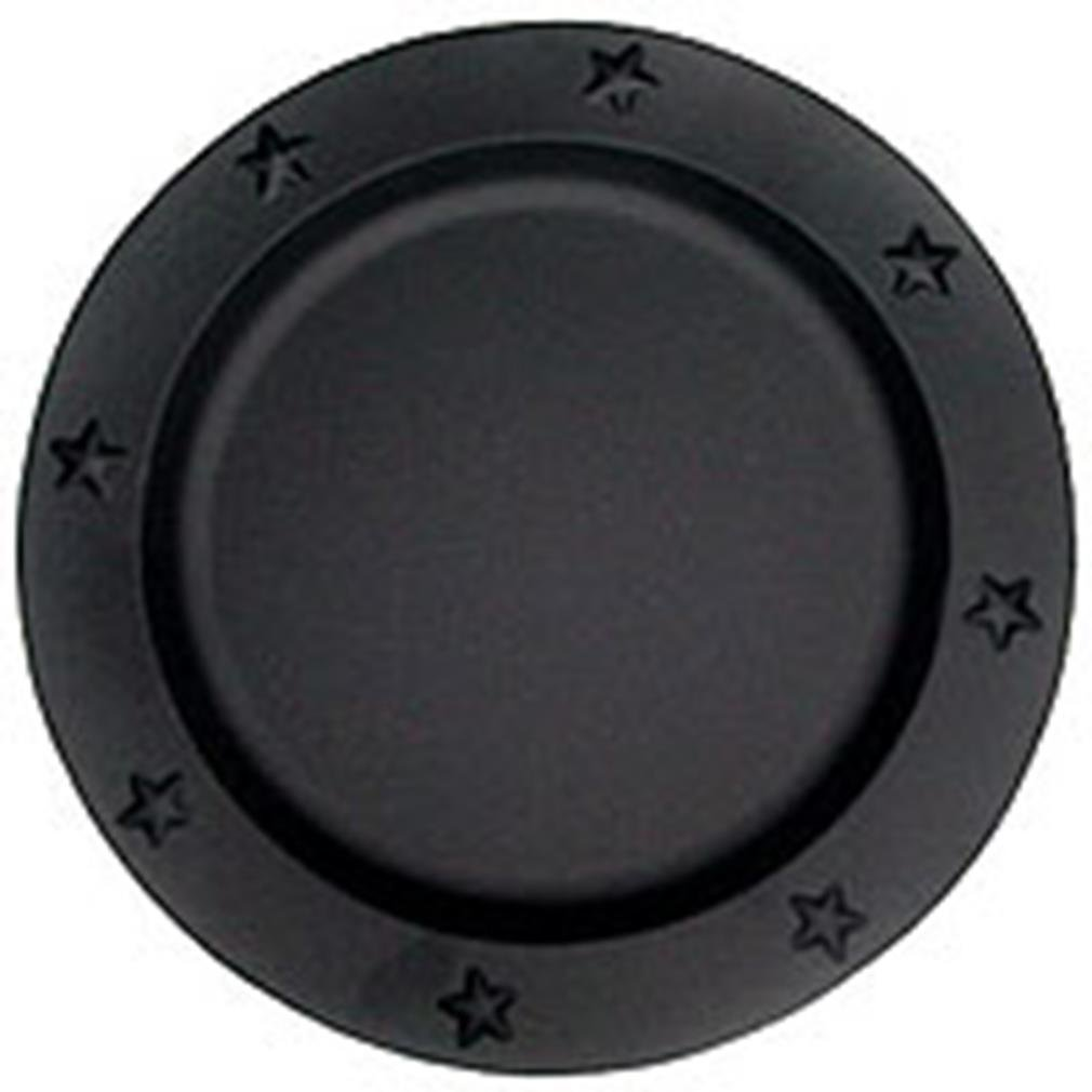 Christmas Tablescape Décor - Black tin star embossed charger plate - 1 Only