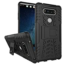 LG V20 Case, NOKEA Heavy Duty Hybrid Armor Rugged Dual Layer Case with kickstand Shock Proof Tough Rugged Dual-Layer Case for LG V20 (Black)