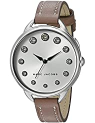 Marc Jacobs Womens Betty Cement Leather Watch - MJ1476
