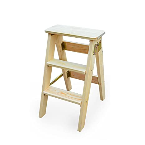 Pleasant Amazon Com Mago Solid Wood Folding Portable Ladder Stool Pabps2019 Chair Design Images Pabps2019Com