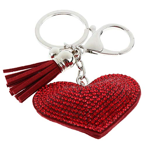 NATFUR 3 Styles Keychain Bag Car Decor Keyring Sparkling Handbag