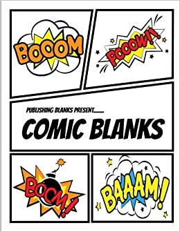 Amazon Com Publishing Blanks Present Comic Blanks Blank Comic