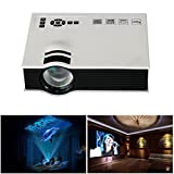 Mini Projector , 800lumens LED Mini Home Multimedia Projector 1080P Presentation Projector Cinema Theater Support HD HDMI VGA USB SD AV TV Video input for Home Cinema