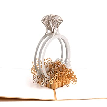 Amazon Com Nszzjixo9 Diamond Shape Lace Wedding Invitation