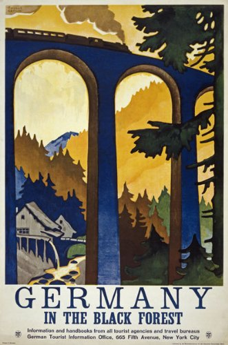 TW81 Vintage 1930 Germany In The Black Forest German Travel Poster Re-Print - A1 (841 x 610mm) 33