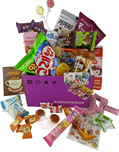Korean snack box with ramen- Asian snacks and candy by UmshikBox