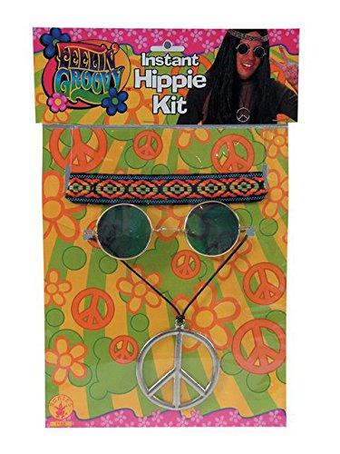 Rubie's Feeling Groovy Male Hippy Accessory Kit, Multicolored, One Size ()