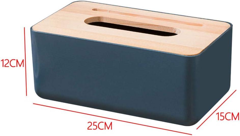 Dunkles Blau DIYARTS Log Cover Tissue Box Rechteckige Kosmetiktuch Box Fall Halter F/ür Hotel Table Decor Organizer Haushaltswaren