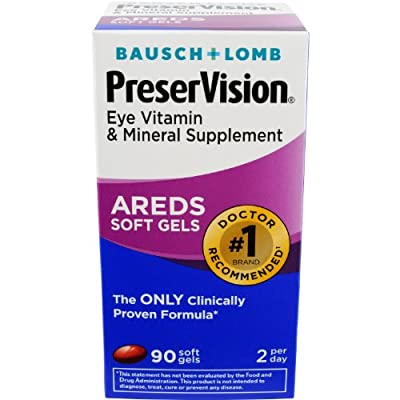 Preservision Vitamin and Mineral Supplement Soft Gels, 90 Count