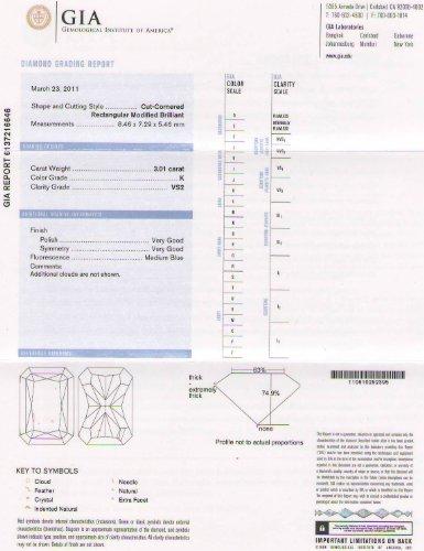 Loose Diamond 3.01 Carat Radiant K VS2 GIA Certified