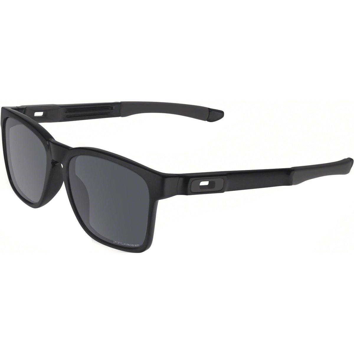 Oakley Men's Catalyst OO9272-09 Polarized Iridium Square Sunglasses, Matte Black, 55 mm