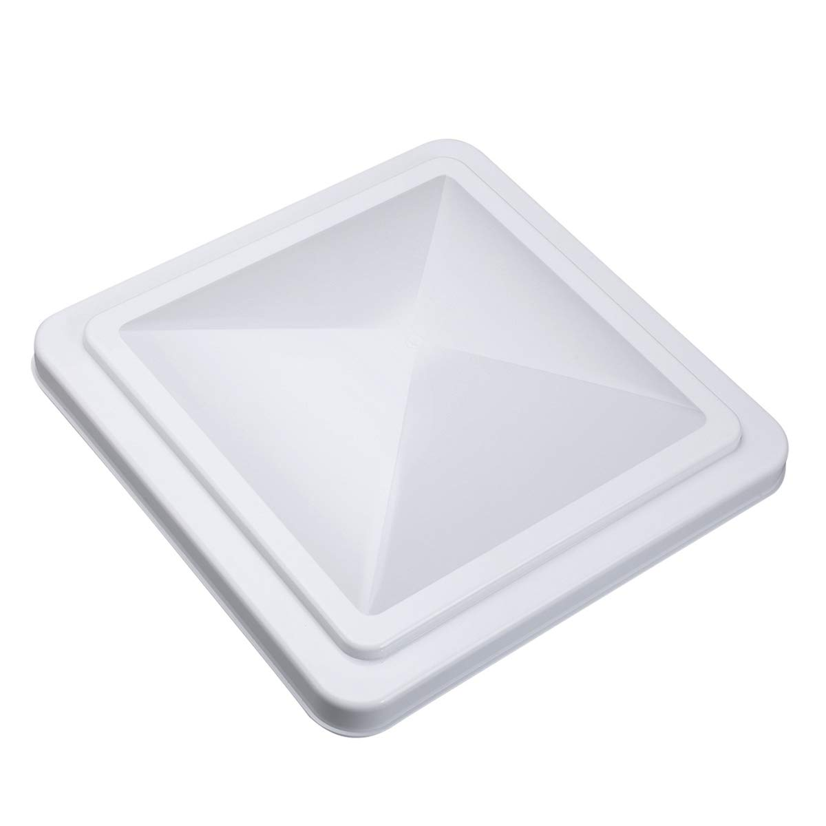VETOMILE 14''x 14'' RV Roof Vent Cover White Universal Replacement Vent Lid for Camper Trailer Motorhome by VETOMILE