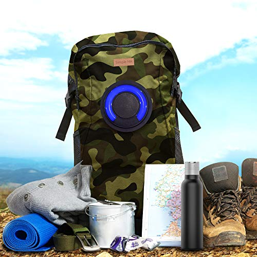 Price comparison product image 32L SimpleHH Camo Backpack Bluetooth Speakers