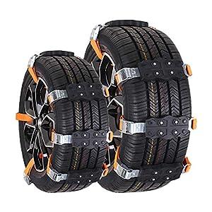 Chaînes à neige de voiture,Vogvigo chaînes à neige, chaînes à neige, chaînes à neige TPU (2PCS), chaînes de sécurité…