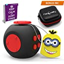 FIDGET CUBE New Improved Cube Quality Anxiety Attention Toy With BONUS eBook Included + Minion Key Chain - Relieves Stress And Anxiety And Relax for Children and Adults BONUS EBOOK is sent by email