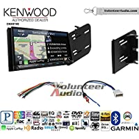 Volunteer Audio Kenwood DNX874S Double Din Radio Install Kit with GPS Navigation Apple CarPlay Android Auto Fits 2010-2013 Nissan Cube (Without Bose)