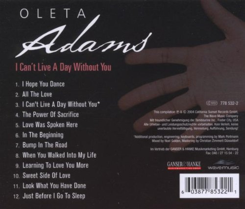 I Can T Live A Day Without You Oleta Adams Amazon De Musik