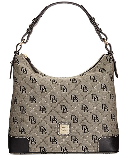 Dooney & Bourke Americana Signature Large Erica Hobo,White/Black
