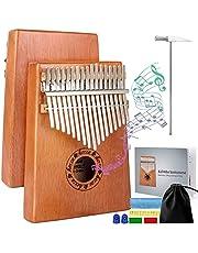 Kalimba, Horse Finger Thumb Piano 17 Keys Start Kits Musical Instrument Gift for Kids Adult (17 Keys Kalimba)