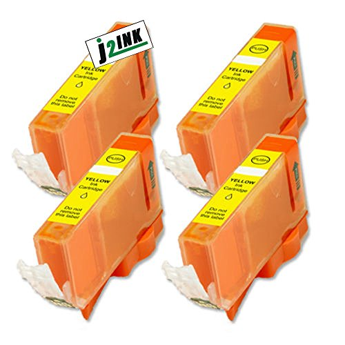 J2INK Compatible Ink Cartridge Replacement for Canon CLI-226 (4 Yellow) 4 Pack CLI-226Y