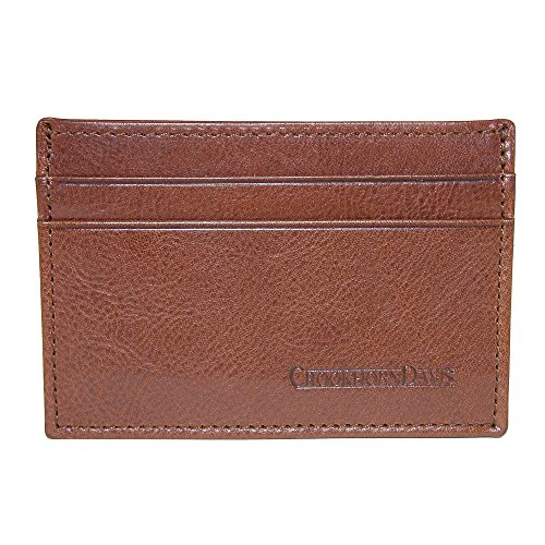 Italian Card Vachetta Men's Calfskin Leather Men's CrookhornDavis Case CrookhornDavis Brown Vachetta Italian Calfskin wTY0qxvqHC