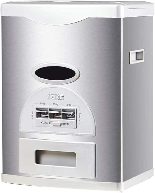 Auto Rice Dispenser Rice Storage Container Stainless Steel Rice Organization 25 Pounds