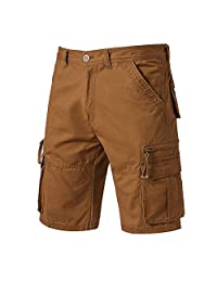 Workwear Men's Cargo Pant Kstare Casual Pure Color Outdoors Pocket Beach Work Trouser Cargo Shorts Pant Knickers